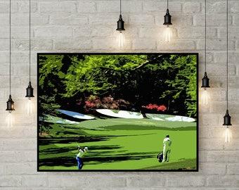 Golfing Art, Print or Canvas, Augusta Golf Club Picture, Amens Corner, Golfer Fan Gift, Cool Sports Wall Art, Golf Lover Decor, Masters Golf
