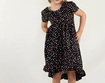 Toddler Halloween Costume, Toddler Halloween Dress, Toddler Girl Clothing, Toddler Girl Dress, Toddler Polka Dot Dress