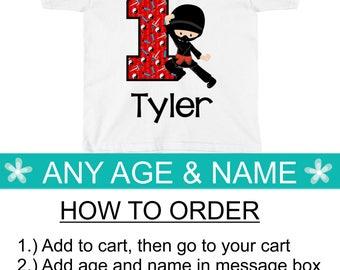 Ninja Birthday Shirt, Ninja Birthday Party, Boys Birthday Shirt, Karate Birthday 1 2 3 4 5 6 7 8 9 10 1st 2nd 3rd 4th 5th 6th 7th 8th 9th