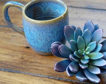 handmade ceramic mug;ceramic blue mug;handmade coffee mug;pottery coffee mug;ceramic coffee mug;one of a kind ceramic coffee mug;tea cup