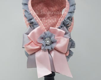 Pink Damask Step-in-Harness