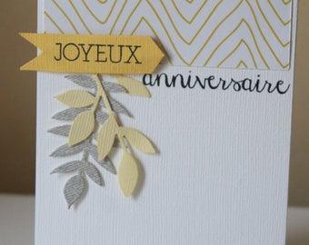 Yellow card: happy birthday