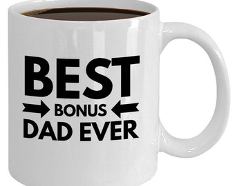 Bonus Dad Parent Gift Idea. Best Seller Quote Mug From Daughter Son Child Kids Wife Baby. Fostering Adoption Coffee Tea Cup. Thank You Love