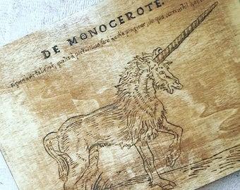 Unicorn Woodburning
