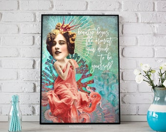 BE YOURSELF - Limited Edition - Art Quote Digital Print