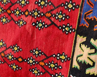 Beyza Vintage Handwoven Causcasian Kilim