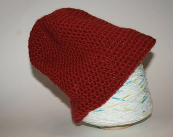 Crochet slouchy hat teen