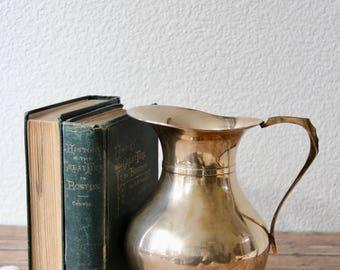 Brass Pitcher - Brass Vase - Vintage Pitcher - Vintage Brass Pitcher - Vintage Brass Vase - Brass Decor - Vintage Vase - Brass Bud Vase