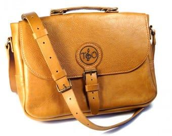 Leather Men's Bag / Leather Messenger bag / Leather Briefcase / Leather Shoulder Bag / Personalized Bag / leather bag handmade