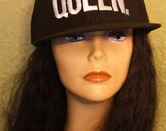 Beautiful Queen embroidered Black Baseball Cap