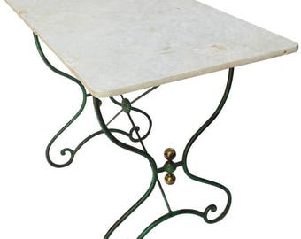 french bistro table with marble top c 1890s