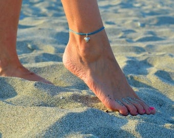 tine turtle anklet, beach jewelry ankle bracelets women anklets beach anklets summer anklets silver anklets minimalist gift for her foot