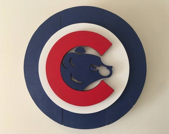 3D Chicago Cubs Wooden Logo, CubNation Series 3 of 3 collect them all