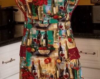 Wine Bottles Women's Apron