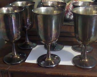 Vintage Sheridan EPS Goblets.  Set of 6