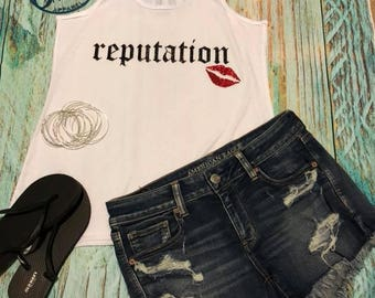 Taylor Swift Reputation Stadium Tour Tank Top Concert Shirt Bad Reputation Look What you made me do Swiftie