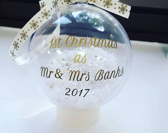 Personalised Christmas Baubles, first christmas, baby's first christmas, wedding gift