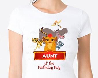 lion guard shirt, Lion Guard Aunt Shirt, birthday party shirt, personalized disney shirt, lion guard iron on, lion guard theme