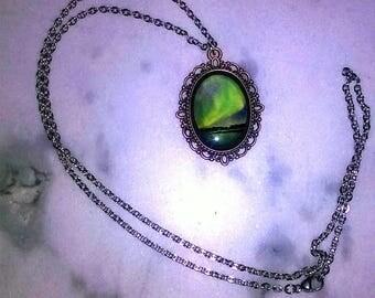 aurora borealis or Northern Lights/ handmade necklace/Resin
