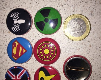 6 badges super hero badges (serie6)
