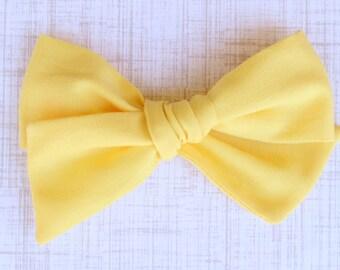 OVERSIZED Yellow Bow