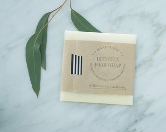 1 SM Beeswax WRAP | Organic, Reusable Food Wrap | Biodegradable | Handmade with 100% natural ingredients