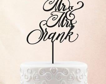 Mr & Mrs Last Name Filigree Wood Cake Topper, Wedding Cake Topper Rustic Cake Toppers for wedding, Custom Cake Toppers for Wedding 28