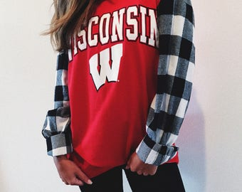 ANY SCHOOL**College Plaid Sleeves Shirt