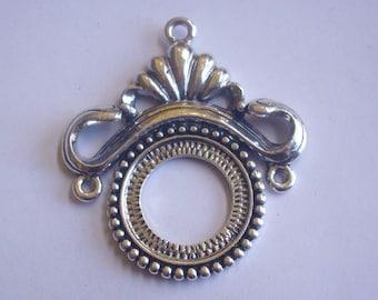 Large metal 47 X 42 mm pendant-