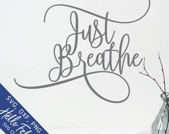 Breathe Stencil Etsy