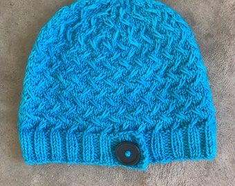 Hand Knit Hat - Ready Made