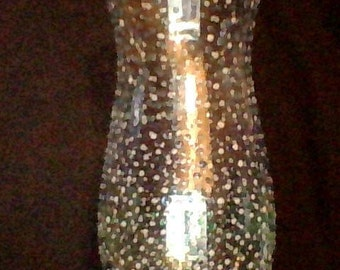 gradiant dotted glass vase