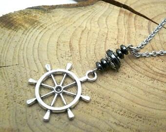 Ship wheel charm,Car Mirror Charm,Ship wheel Car charm,Rearview Charm,Car mirror hanger,boat wheel car charm,Car Jewelry,new car gift