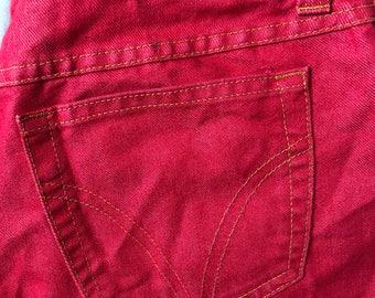RARE, designer, vintage, dolce and gabbana jeans, red jeans