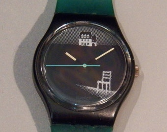 Vintage 1989 Swatch Watch - GB128 Eclipses