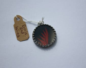 Doris Red Wing Butterfly Necklace