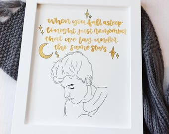 Custom Shawn Mendes Calligraphy Quote and Profile