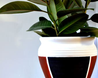 Hand Painted Clay Pot - Home decor