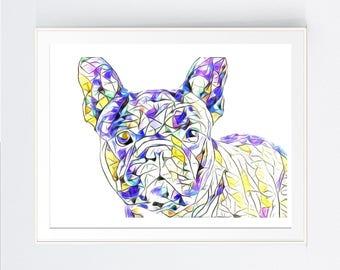 wall art print, FRENCH BULLDOG--INSTANT download, frenchy, artwork, wall print