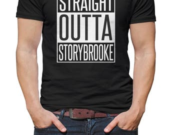 Straight Outta Storybrooke Once Upon a Time, OUAT Vinyl Print Shirt