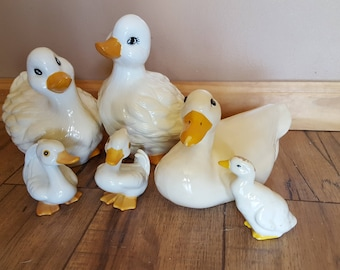 6 Ceramic and Porcelain Ducks Home and Garden Figurines and Décor