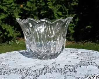 Lotus fully leaded crystal bowl Gorham Germany