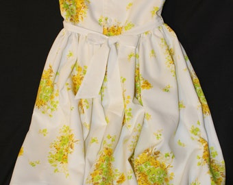 Kids Summer Dress Brand New Unused Light Flowery Fabric for a girl 4 to 5 years old Handmade / Handcrafted in Canada