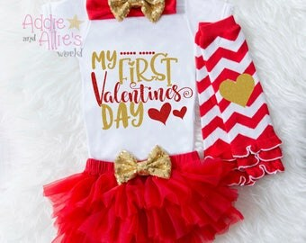 baby girl valentine outfit my first valentine shirt baby valentines day outfit my - Infant Valentines Day Outfits
