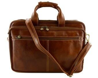 Genuine Leather Business Laptop Bag