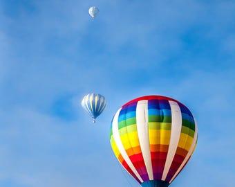 Hot Air Balloon // Erie Colorado Balloon Fest // Photography // Wall Art // Large Print // Decor // Canvas // Giclée