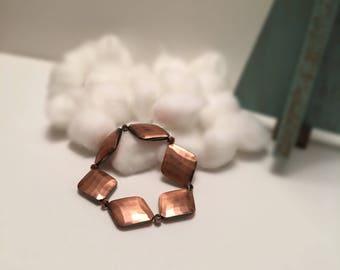 Bronze Diamond Stretch Bracelet