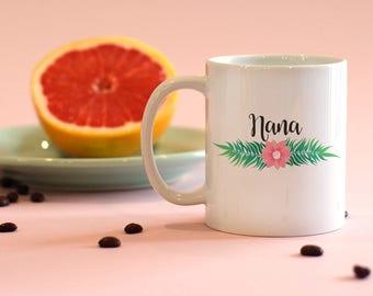 Nana Mug, Grandma Mug, New Grandma, Pregnancy Announcement, Nana Gifts, Personalized Mug, Customized Mug