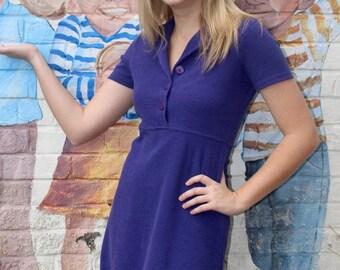 Vintage Purple Mini Dress