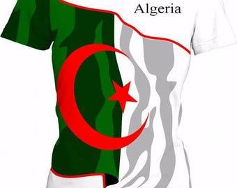 Algeria Ladies Flag Tee
